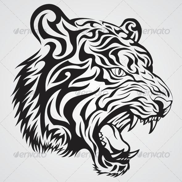 Tiger Tattoo - Tattoos Vectors