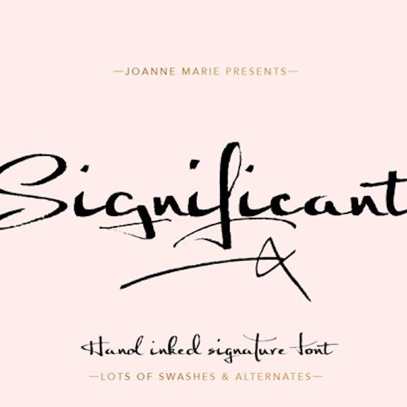 Significant signature font
