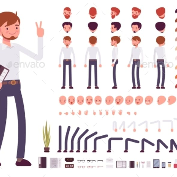 Male Clerk Character Creation Set