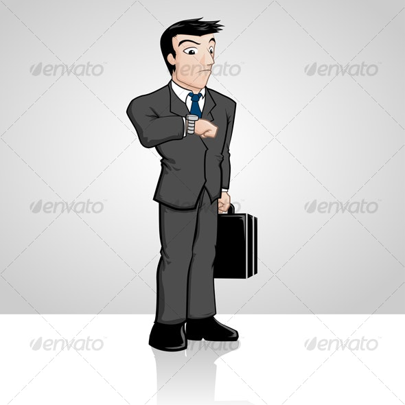 Businessman Waiting - People Characters