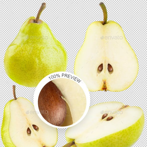 Isolated Pear Collection