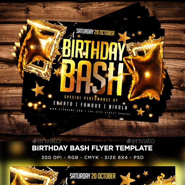 Birthday Bash Flyer