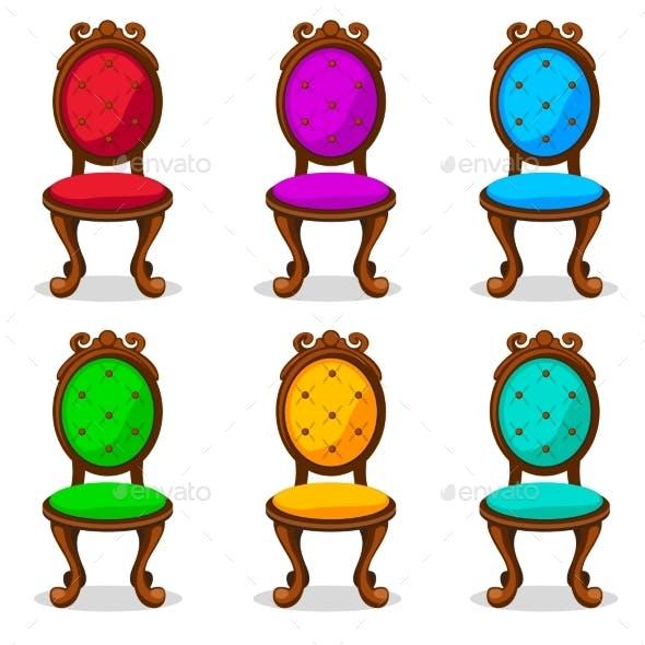 Cartoon Colorful Retro Chair