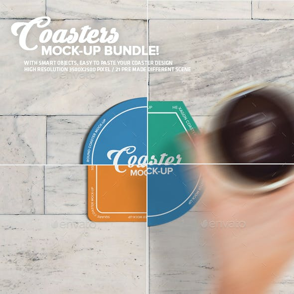 Coasters Mock-Up Bundle