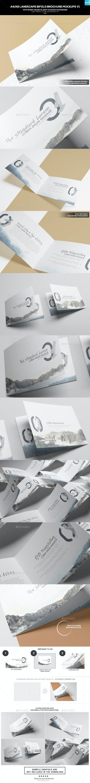 A4/ A5 Landscape Bifold Brochure Mockups - Brochures Print