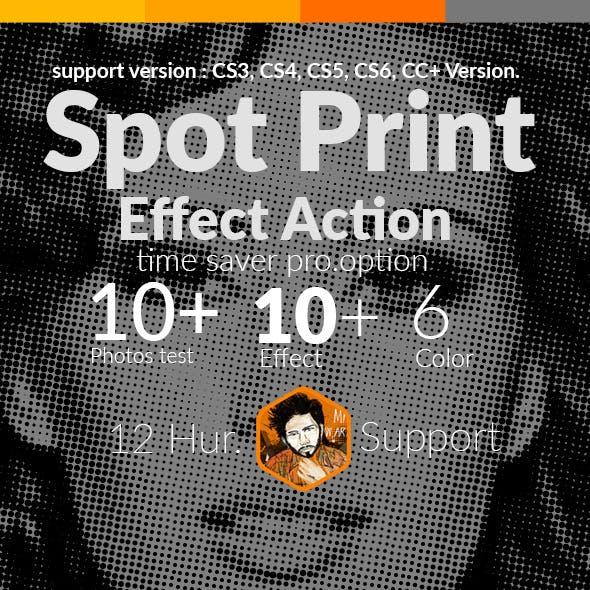 Spot Print Effect Action