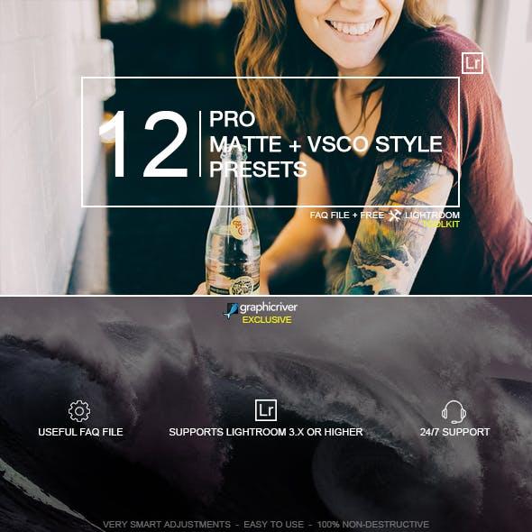12 Pro Matte + VSCO Style Presets