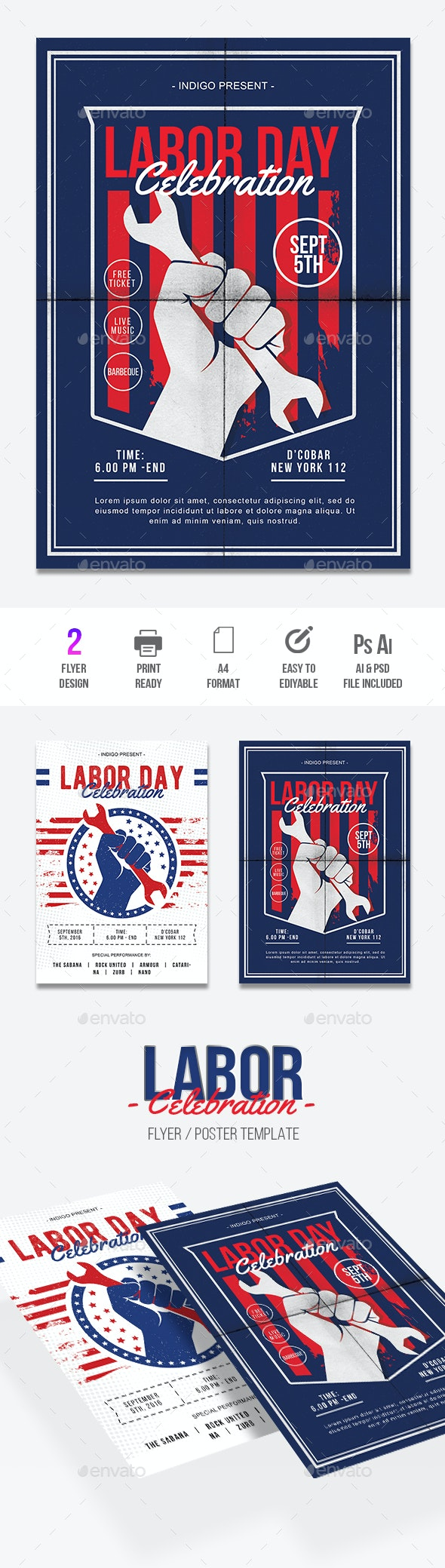 Labor Day - Events Flyers