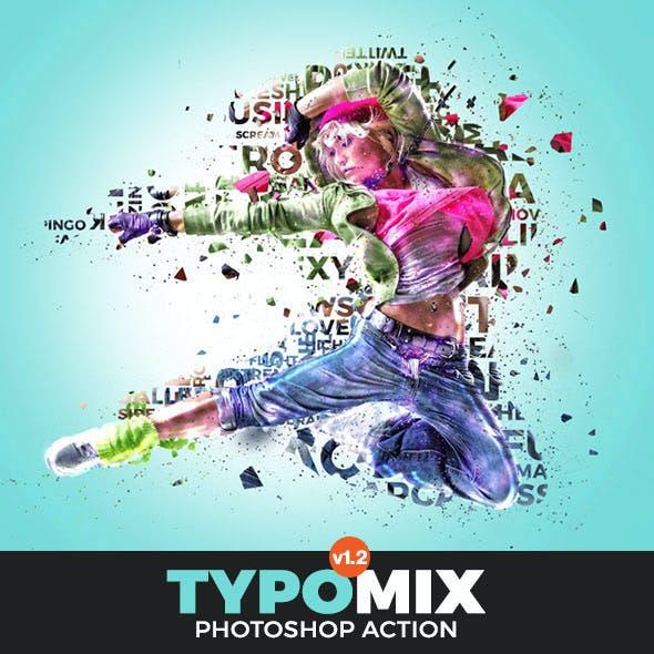 TypoMix Photoshop Action