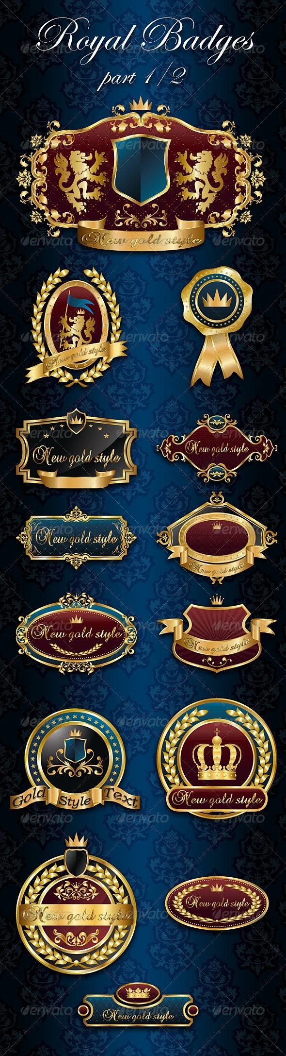 Royal Badges/Frames part 1/2 - Decorative Symbols Decorative