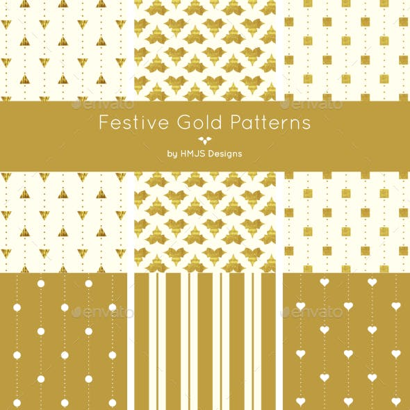 Festive Gold Patterns