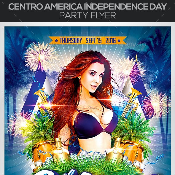 Centro America Independence Day Party Flyer