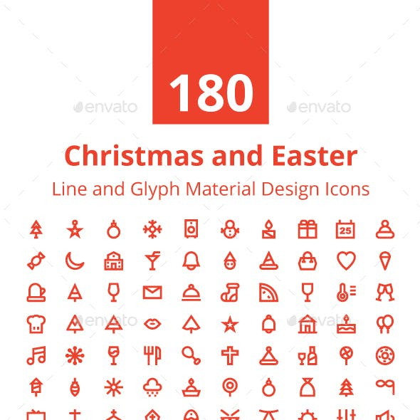 180 Christmas and Easter Icons