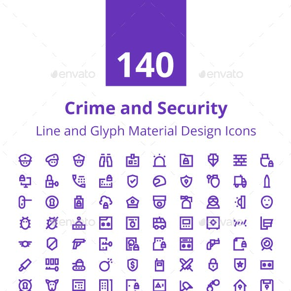 140 Crime and Security Material Icon