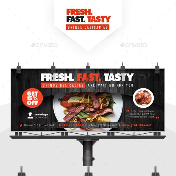 Restaurant Billboard Templates
