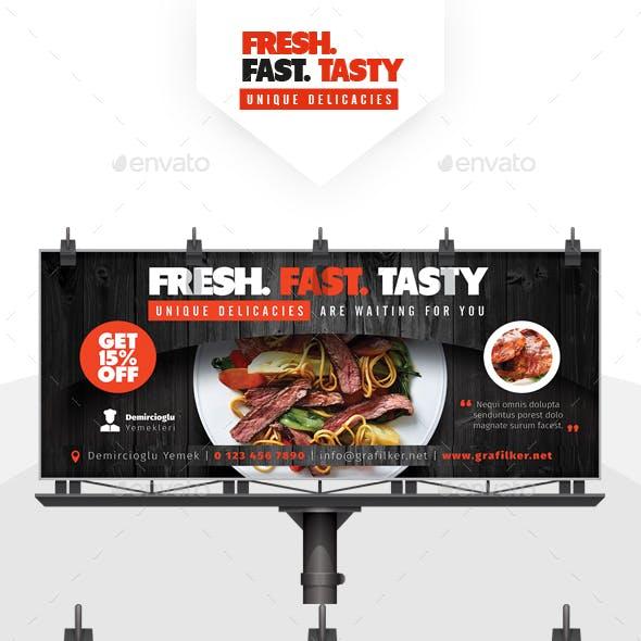 Restaurant Billboard Templates