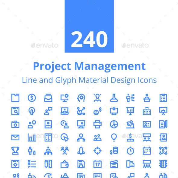 240 Project Management Material Icon