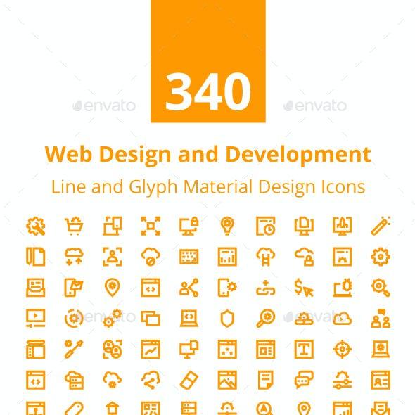 340 Web Design and Development Icons