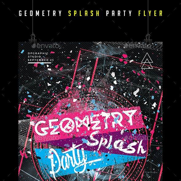 Geometry Splash Party Flyer