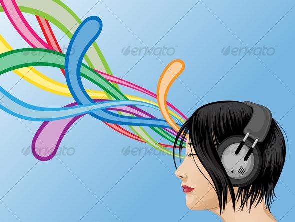 Headphone Girl - People Characters