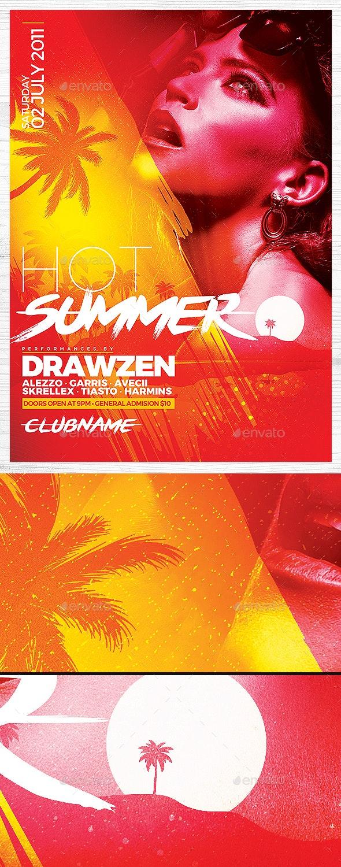 Hot Summer Flyer - Clubs & Parties Events