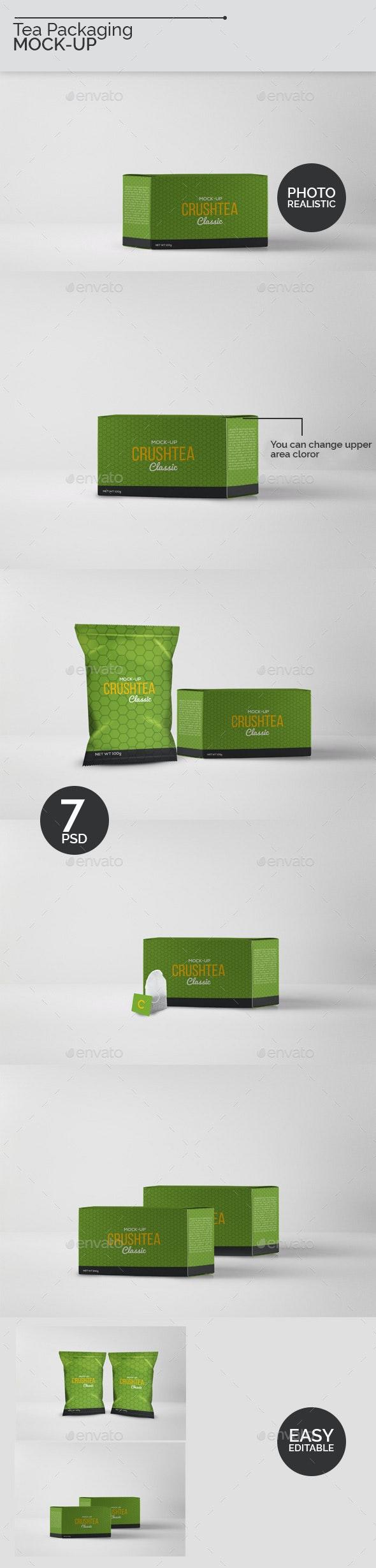 Tea Packaging Mock-Ups V2 - Food and Drink Packaging