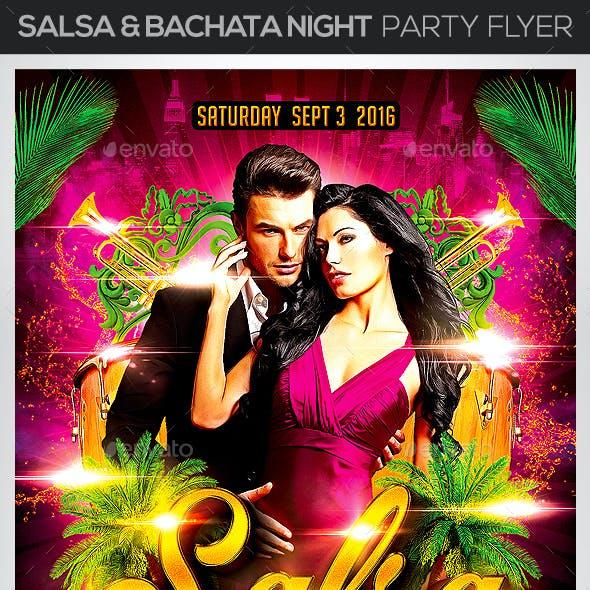 Salsa & Bachata Night Party Flyer