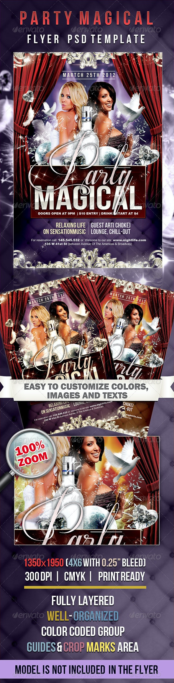 Party Magical - Flyer PSD Template - Events Flyers