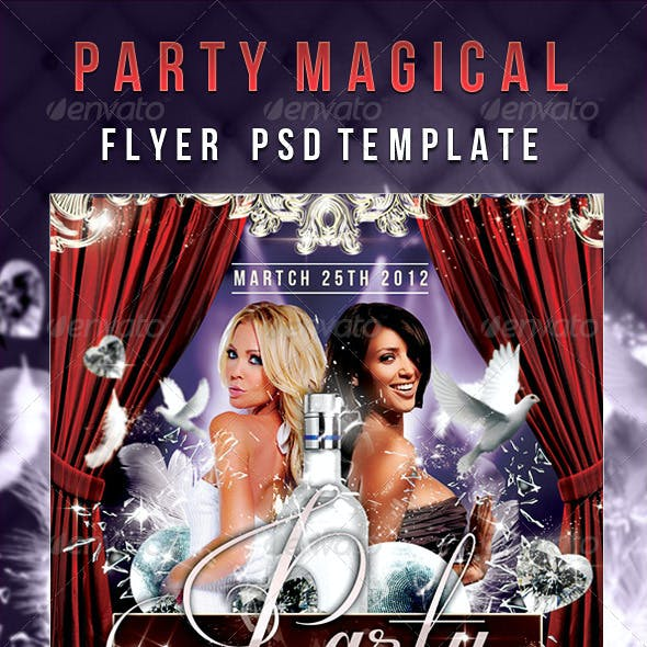 Party Magical - Flyer PSD Template