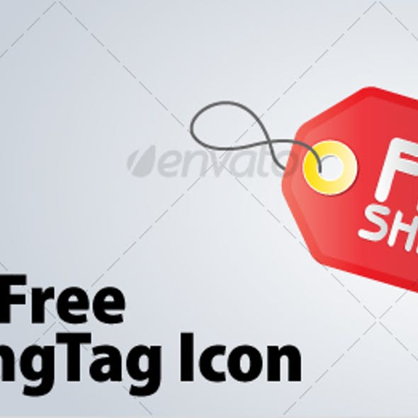Free Shipping Tag Icon
