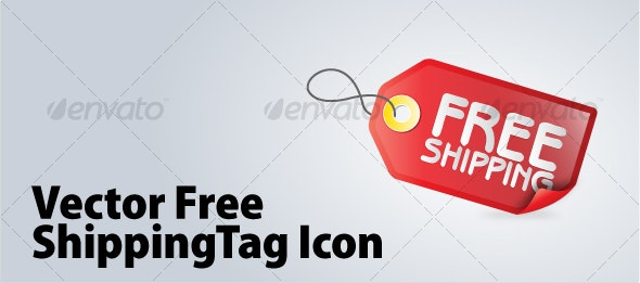 Free Shipping Tag Icon - Web Technology