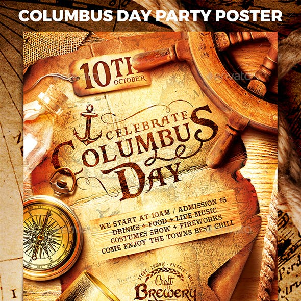 Columbus Day Party Poster vol.2