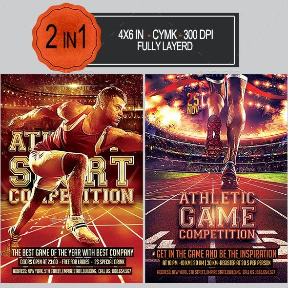 Athletic Sport Flyer Bundle