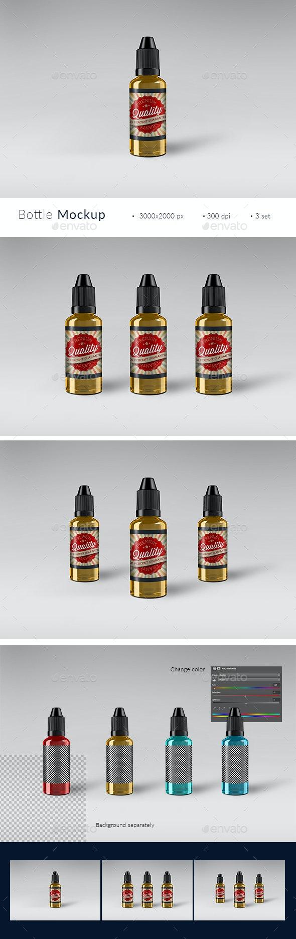 Vape Liquid Bottle Label Mockup - Miscellaneous Packaging