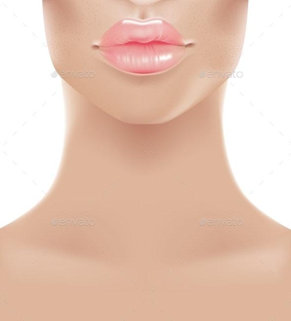 Sweet Pink Lips - People Characters