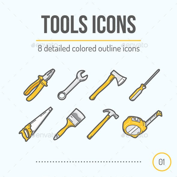 8 Tools Icons