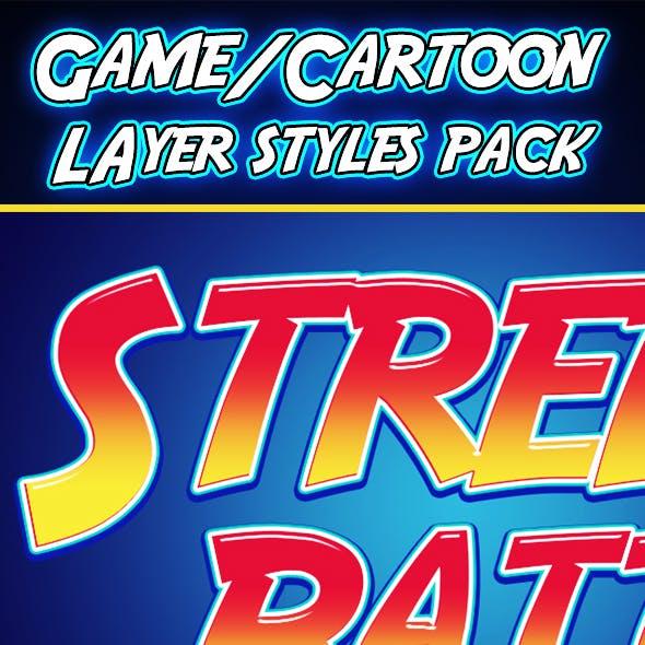 Cartoon Games Layer Styles