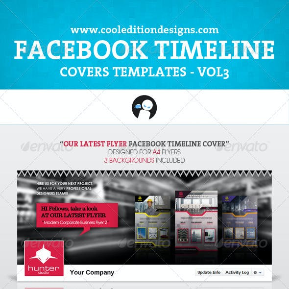 Facebook Timeline Covers Templates VOL3