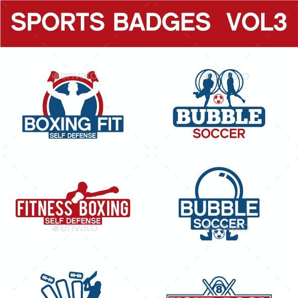 Sports Badges  Vol. 3