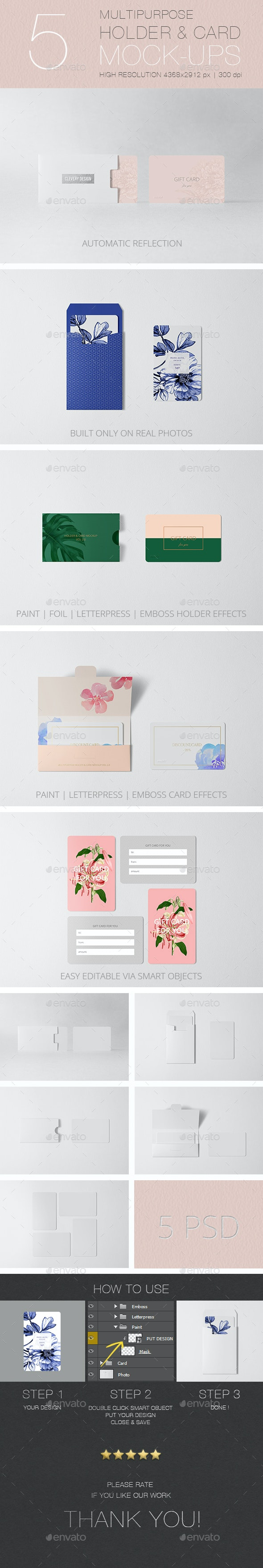 Multipurpose Holder & Card Mock-Up Vol 2.0 - Miscellaneous Print
