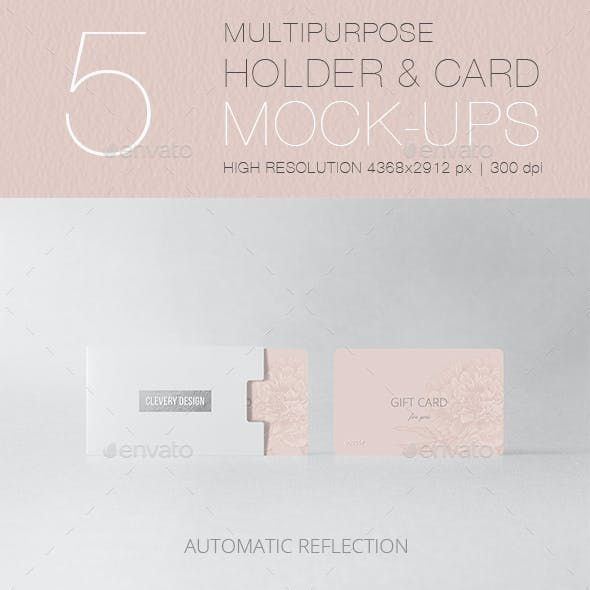 Multipurpose Holder & Card Mock-Up Vol 2.0