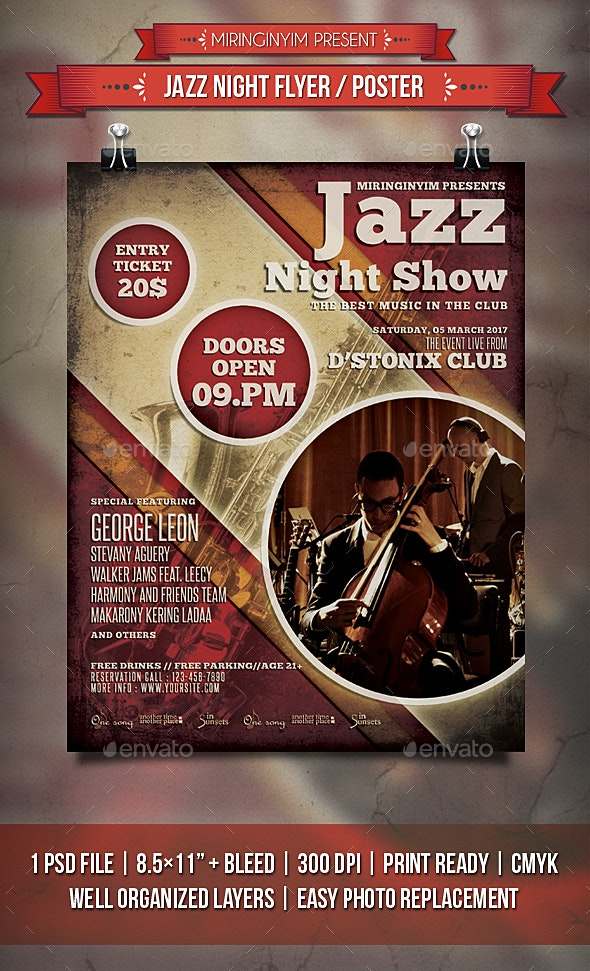 Jazz Night Flyer / Poster - Events Flyers