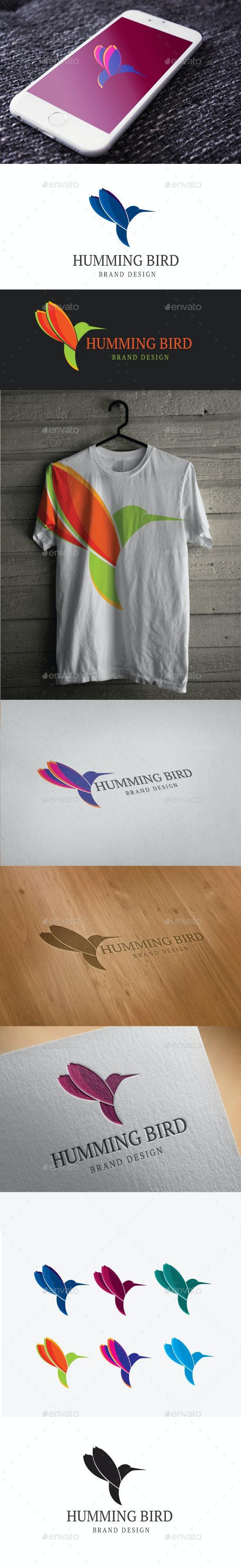 Humming Bird Logo - Animals Logo Templates