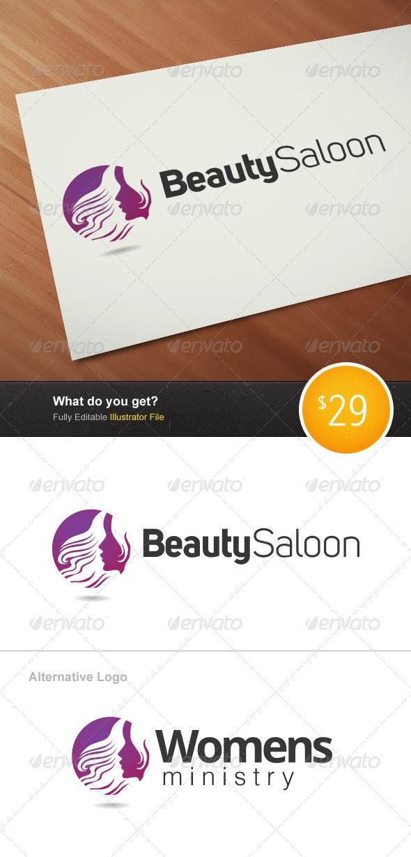 Beauty Saloon Logo - Humans Logo Templates