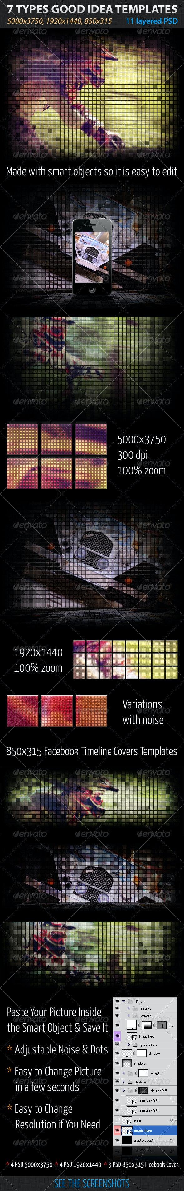 7 Types Good Idea Templates - Tech / Futuristic Photo Templates