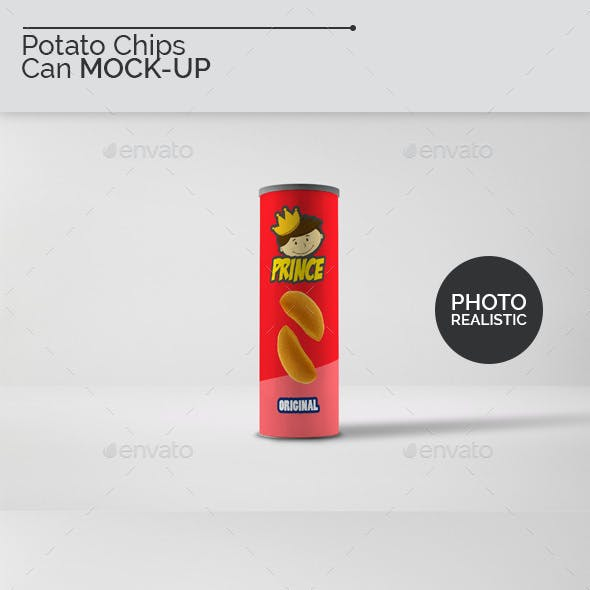 Potato Chips Can Mock-Ups