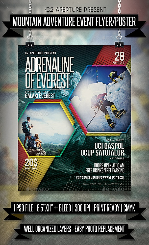 Mountain Adventure Event Flyer / Poster - Events Flyers