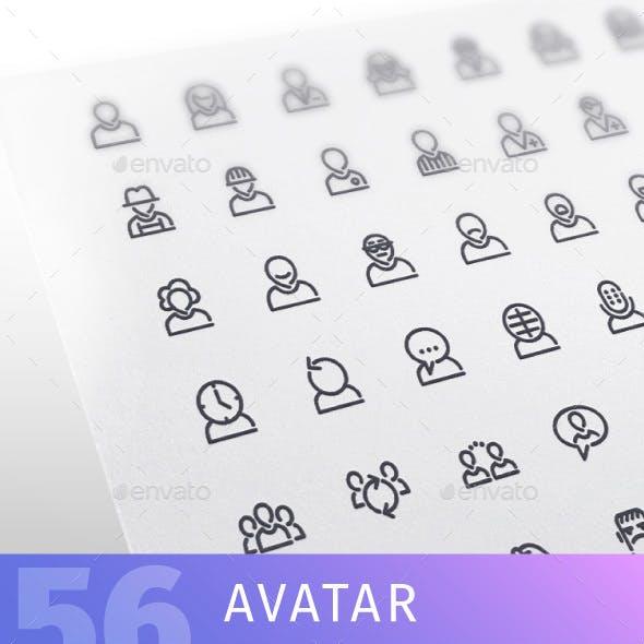 Avatar Line Icons Set
