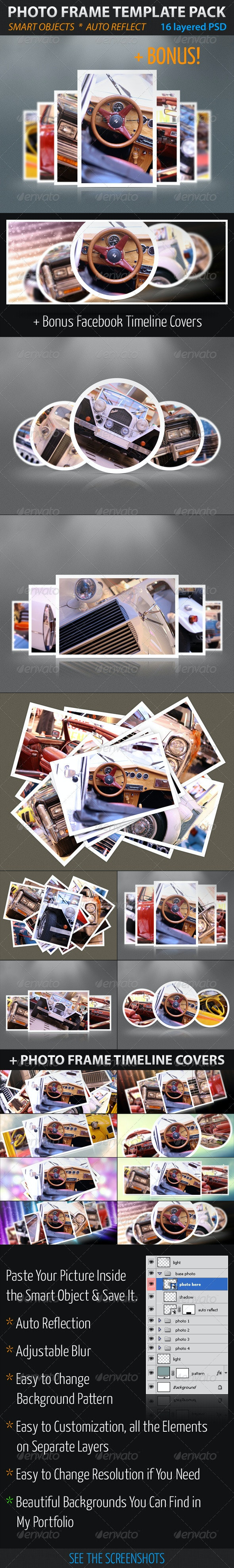 Photo Frame Template Pack - Artistic Photo Templates
