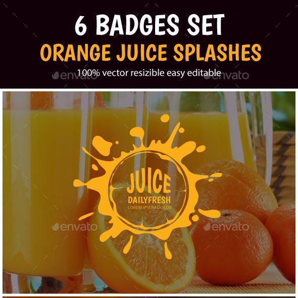 Juice Splashes Badges Set